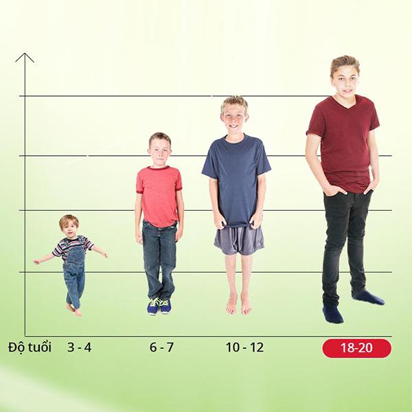 Phát triển chiều cao ở trẻ